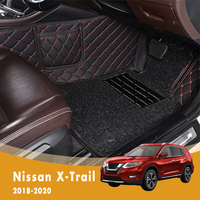 RHD Luxury Double Layer Wire Loop Car Floor Mats For Nissan X trail Xtrail 2020 2019 2018 Auto Carpets Interiors Accessories