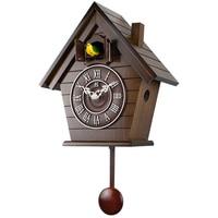 Pendulum Cuckoo Clock Wooden Creative Large Bird Living Room Wall Clock Scenic Garden Relogio Cozinha Home Decor Clock OO50WC