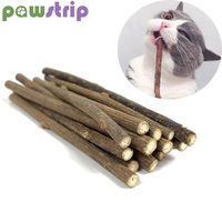 pawstrip 10pcs/lots Matatabi Pet Cat Toy Catnip Sticks Cleaning Tooth Pet Toy For Cats Actinidia Silvervine jouet chat