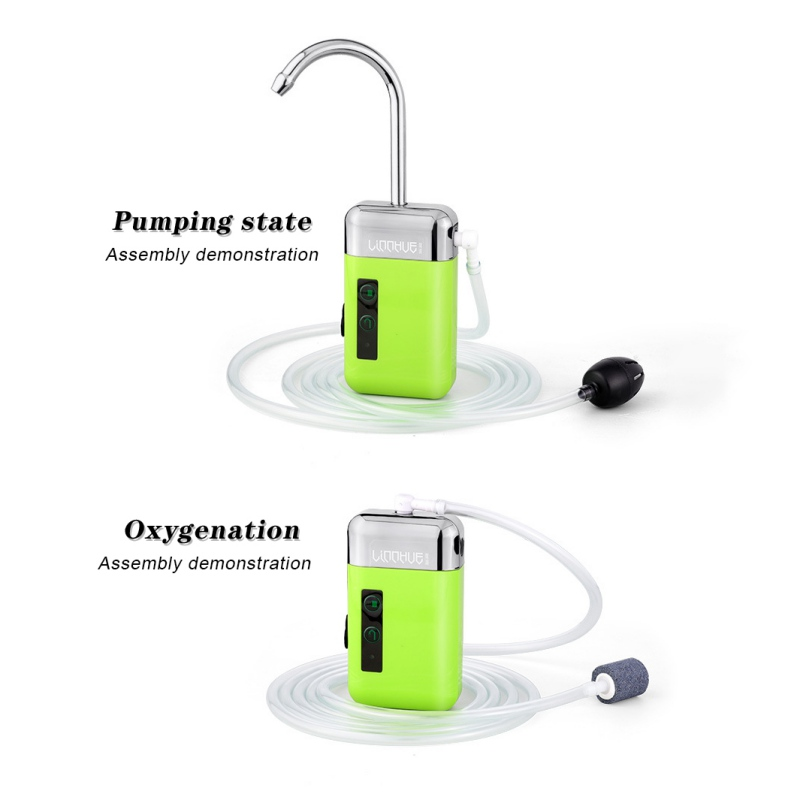 Portable Outdoor Fishing Oxygen Pump Water Absorber Accessories Three-in-One Smart Durable Automatic Induction LED Lighting h