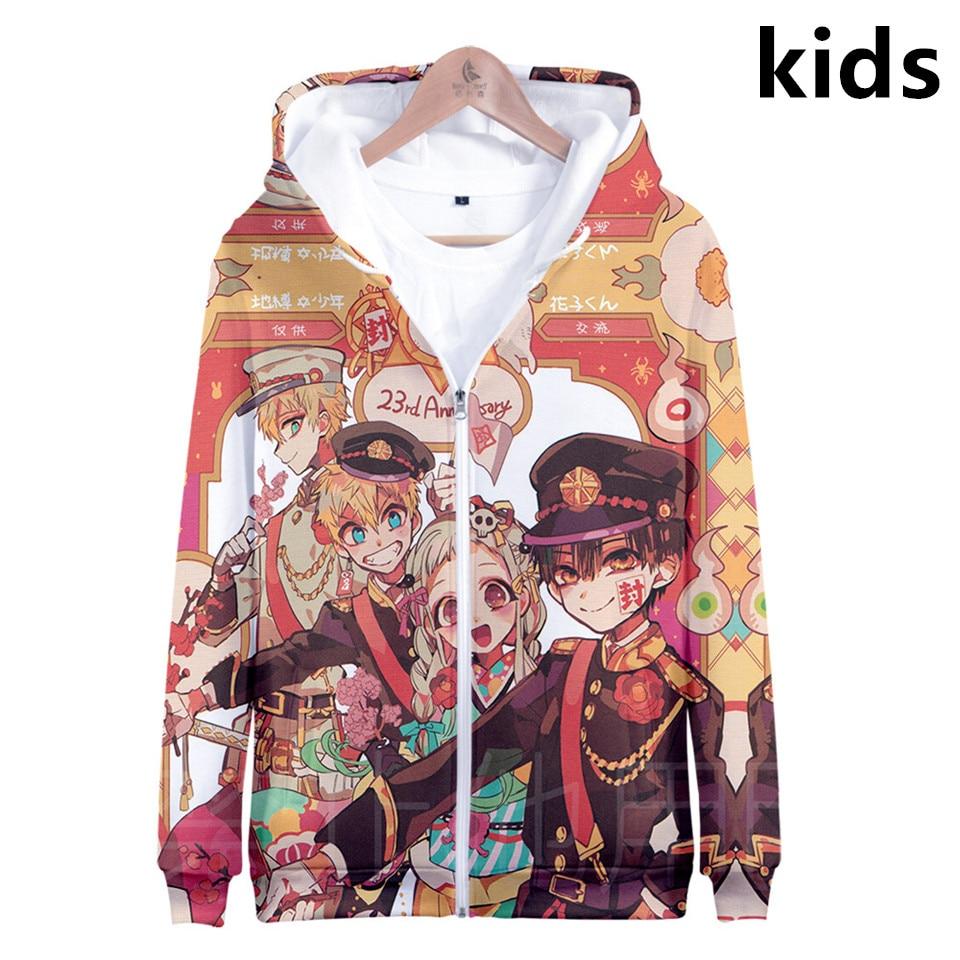 3 To 14 Years Kids Hoodies Anime Toilet Bound Hanako Kun 3D Hoodie Sweatshirt Boys Girls Cartoon Jacket Tops Children Clothes