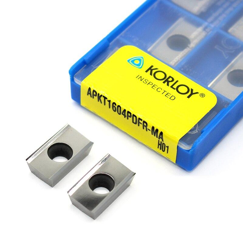 APKT1604 PDFR MA H01 100% Original Milling Cutter Aluminum Alloy Slotted Aluminum Processing Inserts APKT 1604 CNC Lathe Tool