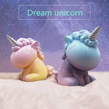 New 1 Piece Myth Unicorn Legend Fly Horse Culture Model Small Resin Figurine Crafts DIY Story House Dream Spain Home Ornament