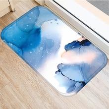 40*60cm renkli bulut kaymaz süet halı paspas açık mutfak oturma oda zemin matı ev yatak odası dekoratif zemin mat...
