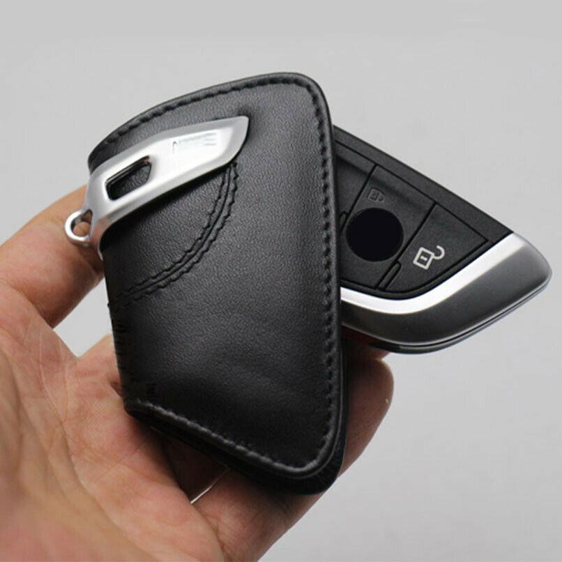 1 шт. черный кожаный Стиль автомобиля смарт-чехол для брелка с ключом и держателем для BMW F15 F16 F48 5/7 серии F10 520li аксессуары