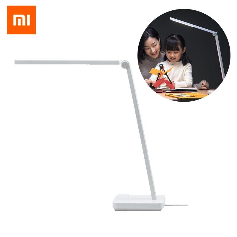 Lampe de Table originale XIAOMI Mijia Lite pliable lampe de bureau LED intelligente Protection des yeux lampe de lecture étudiant travail lampe de bureau