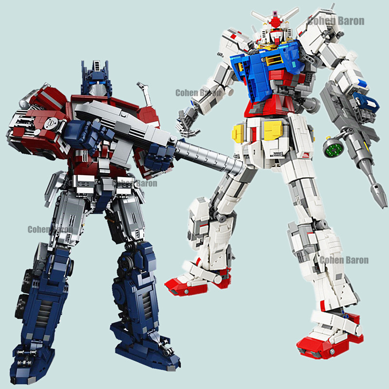 Новинка, 3500 шт., трансформация, супер гигантский робот, меха, Гандам, герои, модель, техника, RX78 2, стационарный строительный блок, кирпич, Рожд