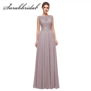 Image 1 - Haft elegancka, długa suknie wieczorowe zroszony linia O Neck Illusion suknia na graduation data formalna Prom Vestidos CC5311