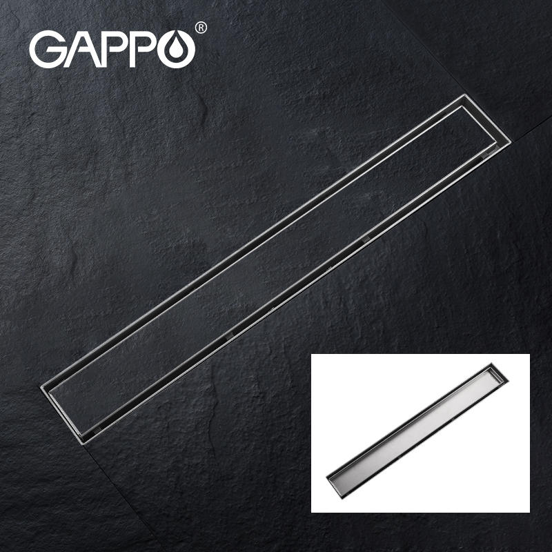 Shower Floor Drain GAPPO Bathroom Linear Kitchen 304-Stainless-Steel Long for Hotel Frool