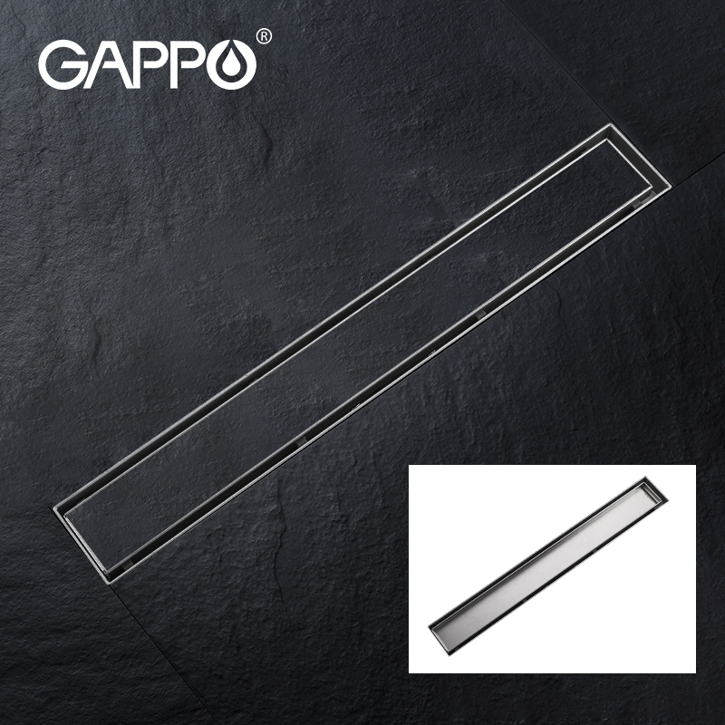 GAPPO Shower Floor Drain 304 Stainless Steel Shower Floor Drain Long Linear Drainage Drain For Hotel Bathroom Kitchen Frool