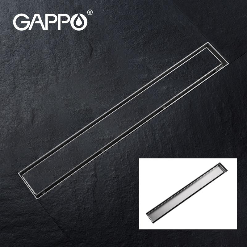 GAPPO Слив для пола из нержавеющей стали 304, длинный линейный дренажный Слив для ванной, отеля, кухни