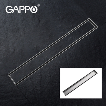 GAPPO Shower Floor drain 304 stainless steel shower floor drain long Linear drainage drain for hotel bathroom kitchen frool 24 long floor drain stainless steel bathroom shower square floor waste grate sanitary pop up drain
