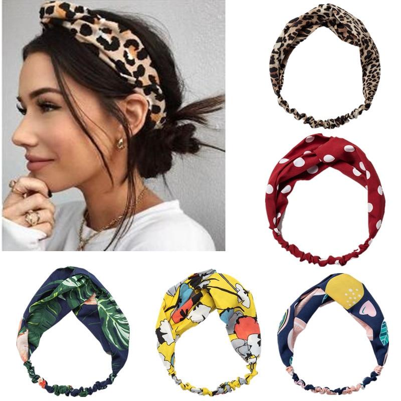 Hairband for Women Elastic Hairband Knot Color Big Wave Point Mesh Headband Sweet Headband Hairpin Hair Accessorie