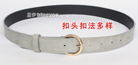 Korean style popular pin buckle simple versatile WOMEN'S leather belt style women's g dress decorative thin belt style
