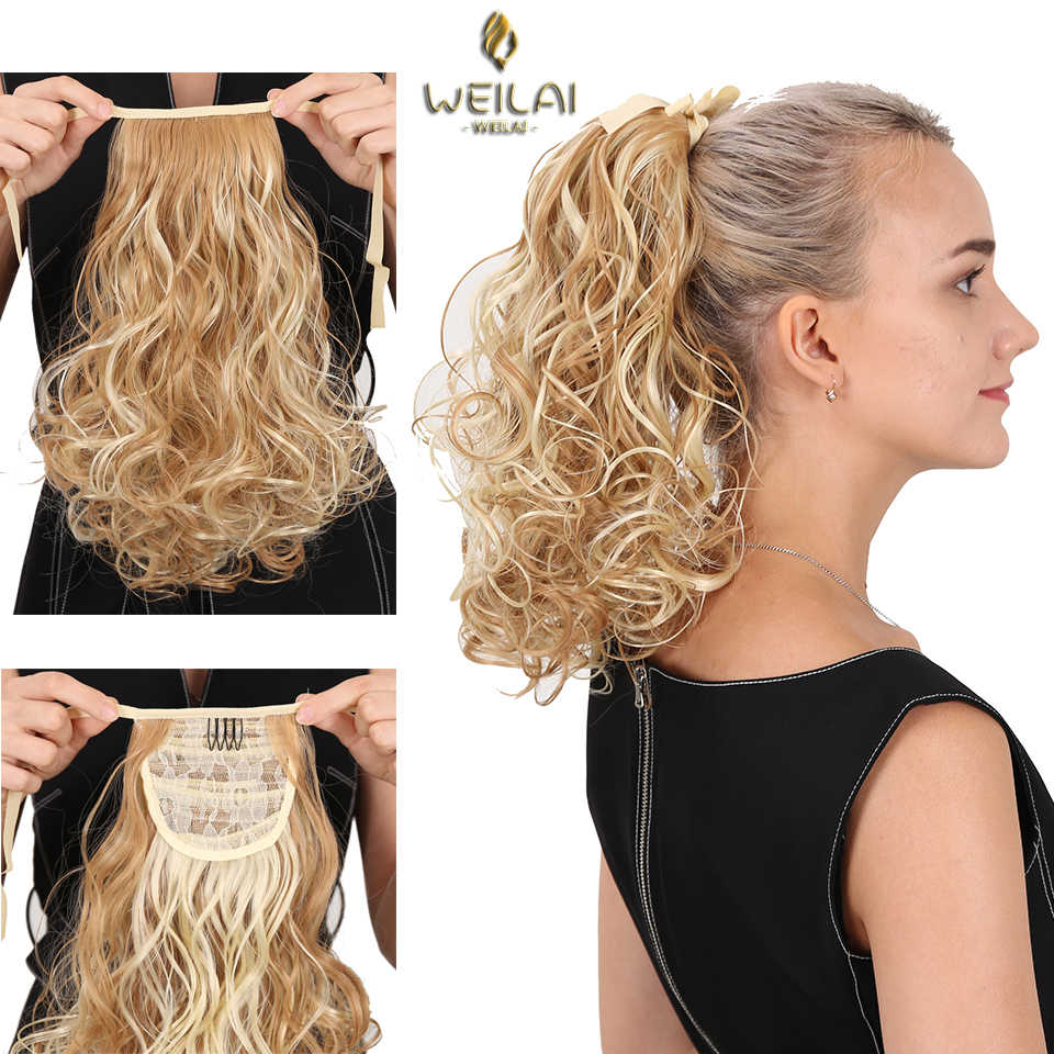 Weilai Short Clip In Drawstring Curly Ponytail Hair Pieces Heat Resistant Synthetic Hair Tail Horse Tress Short Hair Tails Synthetic Ponytails Aliexpress