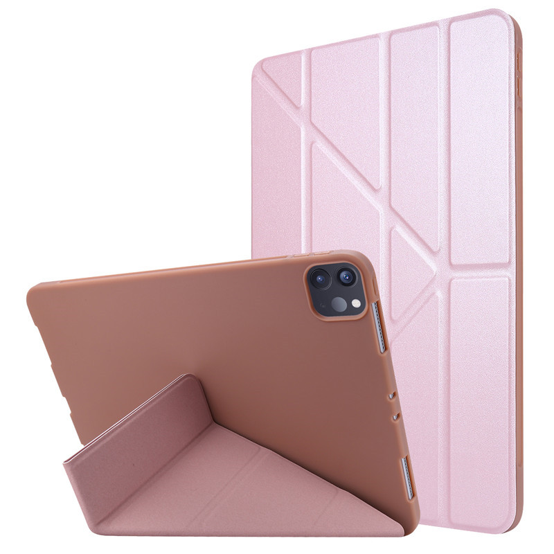Rose Gold Green For 2020 iPad Pro 11 inch Case PU Leather Soft Silicone Back Magnetic Smart Cover for