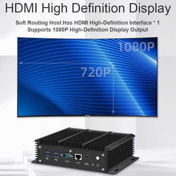 Xcy Fanless Mini Pc Intel Core i5 8265U Celeron 6 LAN 211at Gigabit Ethernet 2*Usb 3.0 HDMI RS232 Firewall Router PFsense Minipc