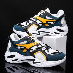 Image 5 - 2019 New Casual Shoes Autumn Men Fashion Sneakers  Breathable Light Mesh Lace Up Mixed Colors Flats Male Sneaker Casual Shoes