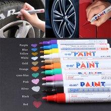 Auto acessórios do carro pneu de roda de cuidado pneu caneta marca oleosa pneu de carro borracha piso metal permanente à prova dtágua tinta marcador caneta tslm2