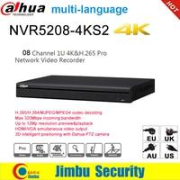 大華 NVR 英語版 4 18K NVR5208-4KS2 8 チャンネルネットワークビデオレコーダー H265 H264 多言語 8CH