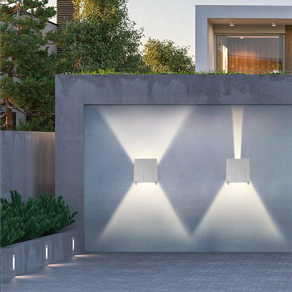 Arandelas 6w Quadrado Wall Lâmpada