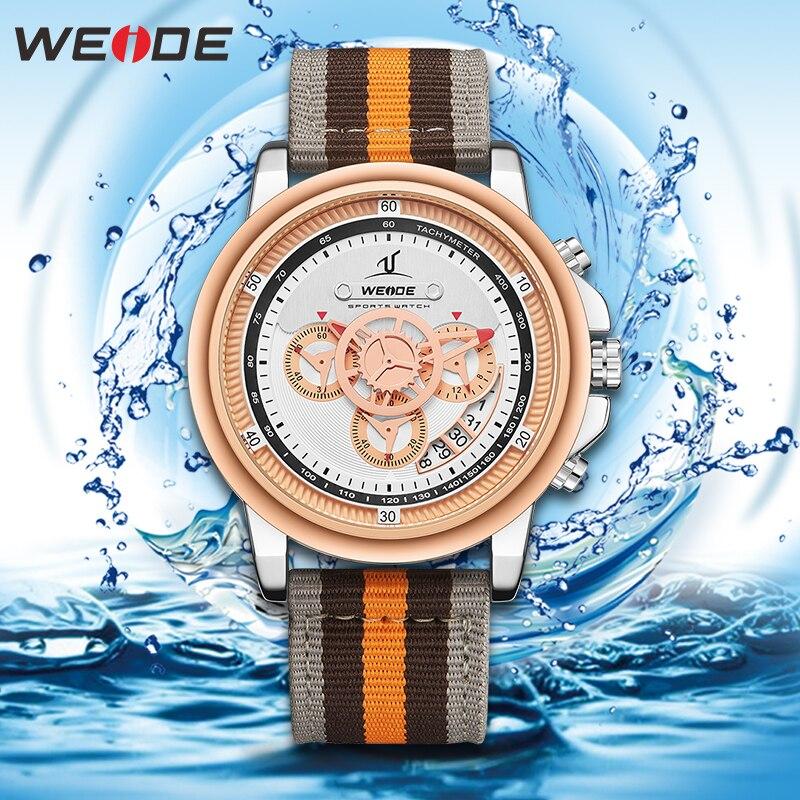 WEIDE Luxury Men Watch European Leather Men Watch High-grade Water Men Watch Relogio Masculino Sports Digital Numeral Date Watch