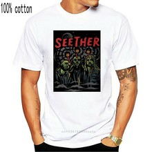 SEETHER 'Mind control't-shirt-Neuf et officiel Mens 플러스 사이즈 탑 티