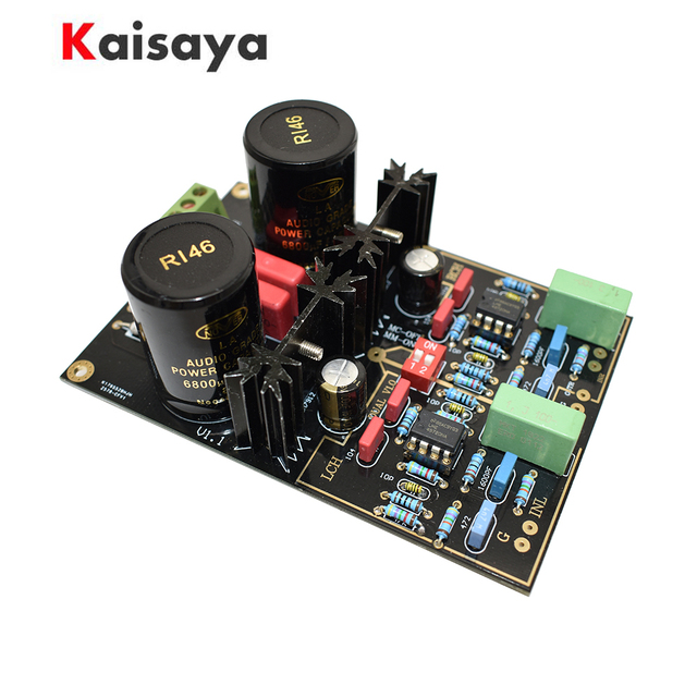 vinyl player NE5532 LME49720NA OPA2111 MM MC phono HiFi amplifier reference Germany DUAL circuit DIY kit finished  board B3 005