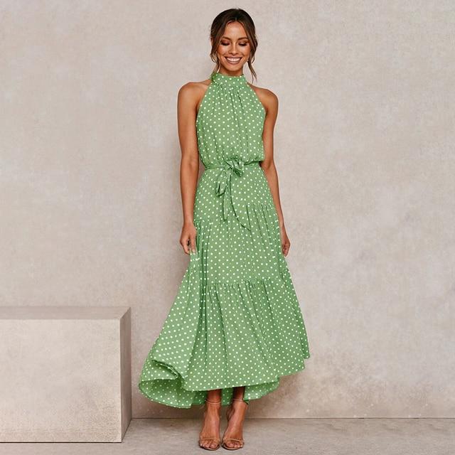 long soft great neckline dress 4