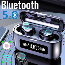 цена на Wireless Bluetooth Earphone with Microphone Sports Waterproof Wireless Headphones Headsets Touch Control Music Earbuds For Phone