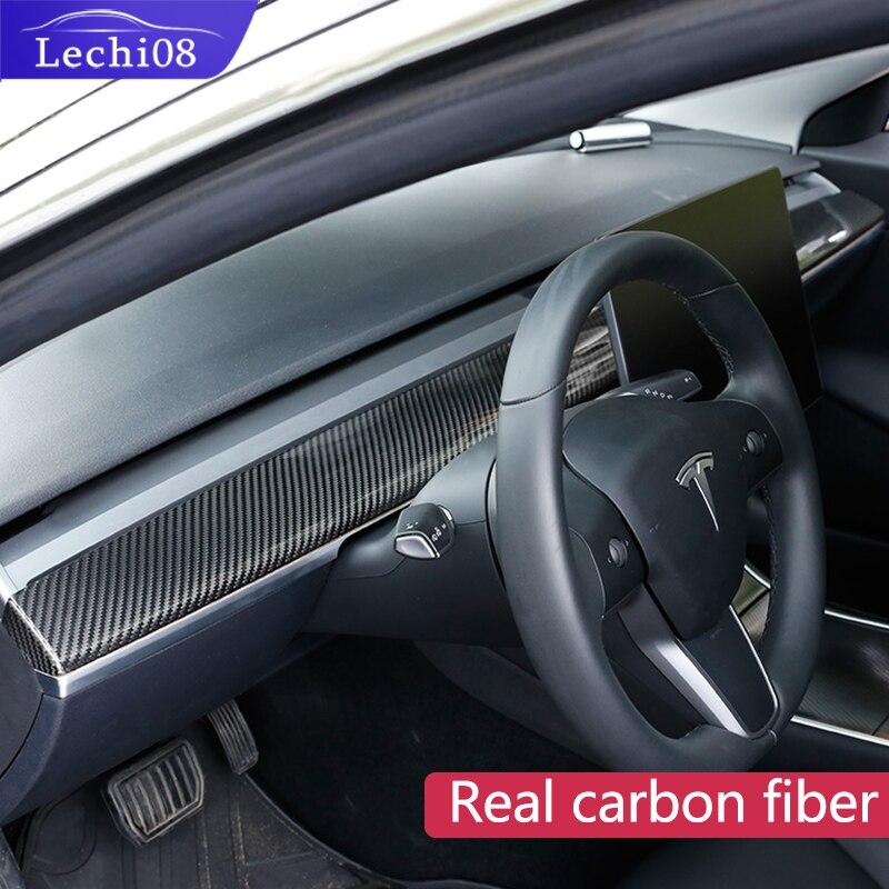 สำหรับ Tesla รุ่น 3/รถอุปกรณ์เสริม Tesla คอนโซลกลางรุ่น 3 Tesla สามคอนโซลกลาง Tesla รุ่น 3 คาร์บอน