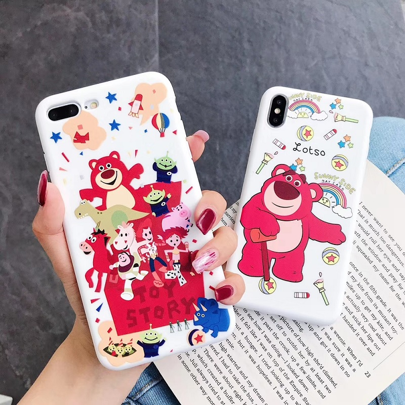 Cartoon <font><b>Toy</b></font> <font><b>Story</b></font> Buzz Lightyear Phone Case For <font><b>iphone</b></font> Xs MAX XR X <font><b>6</b></font> 6s 7 8 plus cute lotso bear Candy soft TPU back cover <font><b>Capa</b></font> image