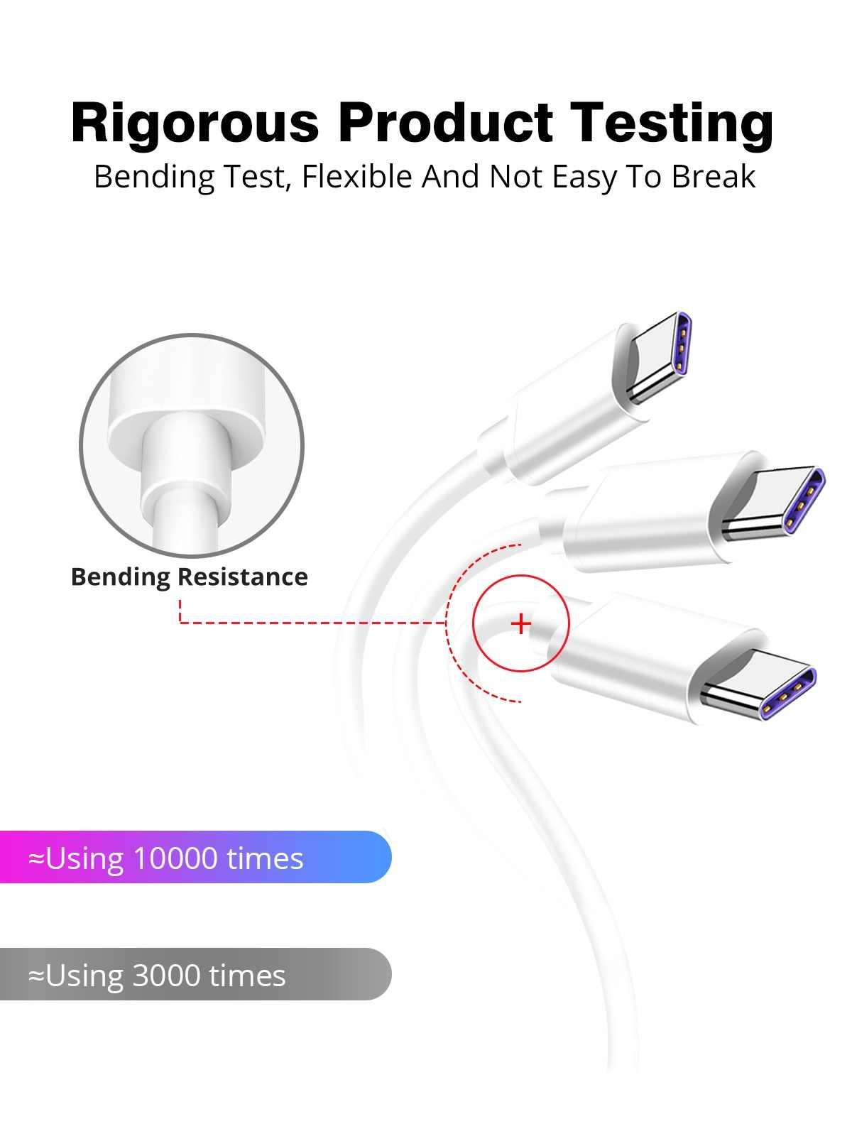 Cable Usb C carga súper rápida para Samsung Galaxy S10 S10e Note 10 Tipo C 5A cargador de teléfono para Huawei honor 10 20