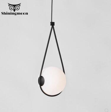 Modern White Glass Pendant Light Nordic Minimalism Bar Pendant Lights Suspension Kitchen Dinning Room Deco Hanging Lamp Fixtures
