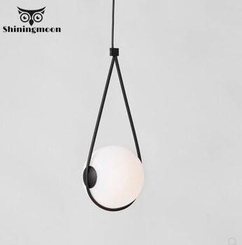 Modern White Glass Pendant Light Nordic Minimalism Bar Pendant Lights Suspension Kitchen Dinning Room Deco Hanging Lamp Fixtures