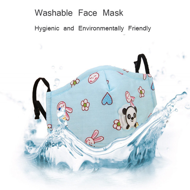 Kids Cartoon PM2.5 Mouth Mask With Activated Carbon Filter Washable Anti-Dust fog Breathable Mouth-Muffle Child Flu Face Mask 1
