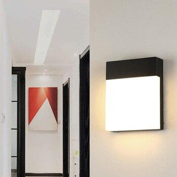 Modern Wall Light LED Outdoor Wall Lamp Aluminum Garden Porch Patio Aside Front Door Lighting Light   WY202021410
