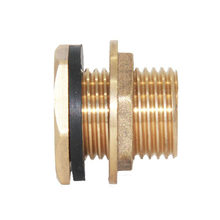 "1/2"" Brass Water Tank Hose Tube Pipe Connector Adapter Fittings with Gasket(China)"