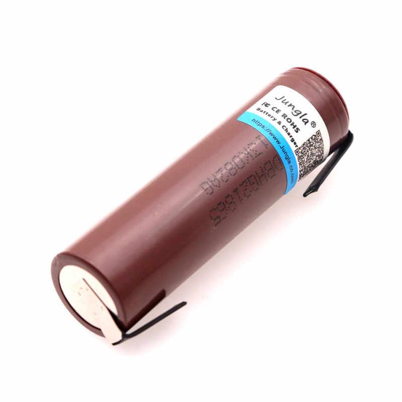 オリジナル 18650 バッテリー HG2 18650 3000 2600mah タバコ充電式バッテリ電源高放電 30A 大電流 + DIY nicke