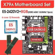 Lga 1356 Xeon E5 X79A 2420V2 DDR3 with 8GB ECC REG Memory 2x4gb 1333mhz