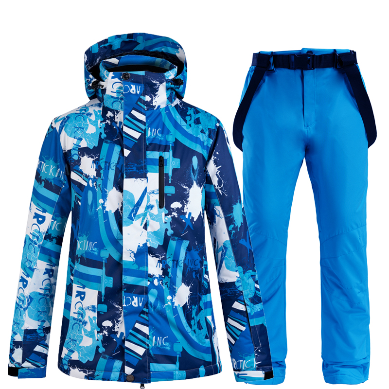New Winter Outdoor Sport Men Ski Suit Snow Skiing Set Camouflage Thermal Waterproof Windproof Male Snowboard Jackets and Pants