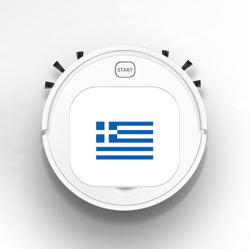 Robot Vacuum Cleaner Intelligent Automatic Mopping Clean Robot for Hard Floor Carpet Creative Funny Greece Flag
