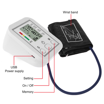 Tonometer Arm Automatic Blood Pressure Monitor BP Sphygmomanometer Pressure Meter Tonometer for Measuring Arterial Pressure 3