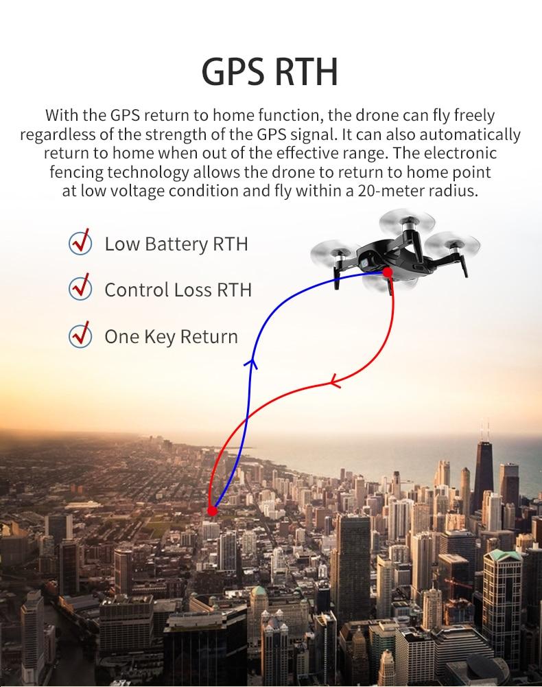 câmera gps duplo modo de posicionamento dobrável rc zangão quadcopter rtf