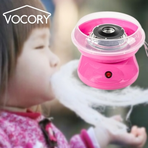 Portable Cotton Sugar Floss Machine Electric DIY Sweet Cotton Candy Maker Girl Boy Gift Children's Day With Free Sticks & Spoon