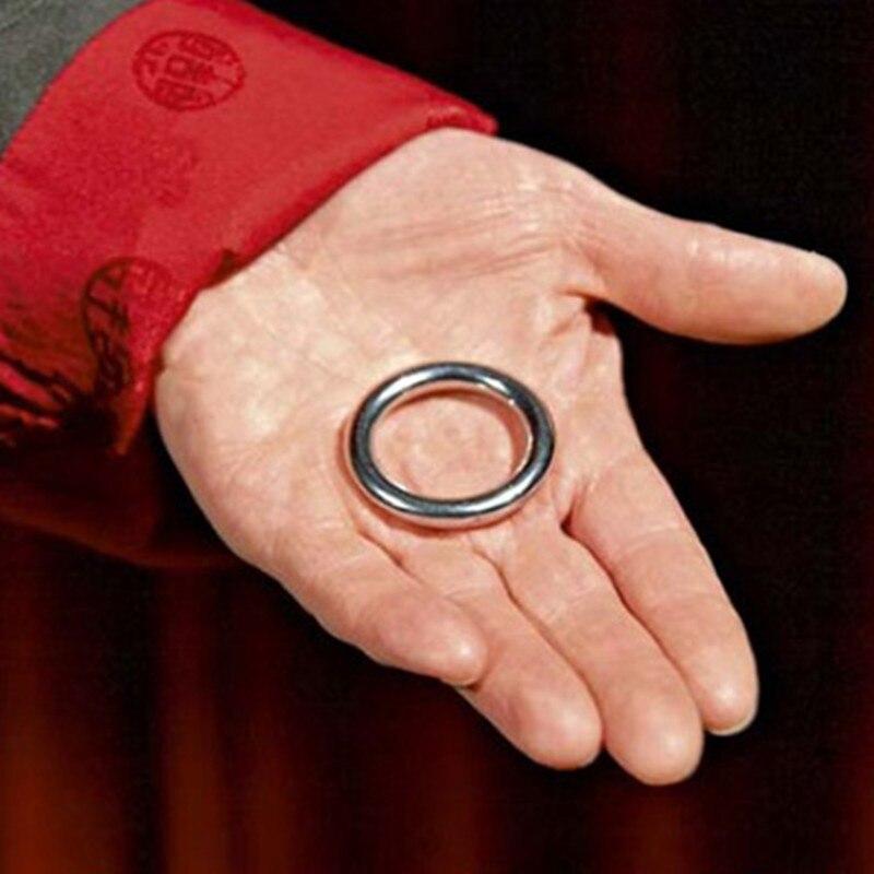 Ellis Ring Magic Tricks Penetrate Vanish Magia Magician Close Up Street Illusions Gimmick Props Fun Pass Through Magie