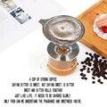 Моющиеся фильтры для кофе из нержавеющей стали для эспрессо  ручная мельница для кофейных зерен  сетчатый многоразовый держатель фильтра д...