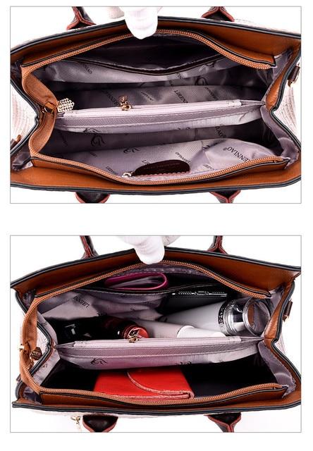 Bolsa feminina de couro genuíno bolsas de crocodilo bolsas de luxo bolsas femininas designer crossbody sacos feminino retro tote bolsas 3