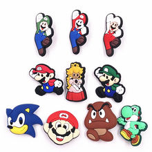 1Pcs Super Mario Bros PVC Princess Label Pins Accessories Backpack Cartoon Brooches on Clothes Scarf Bags Decoration Badges(China)