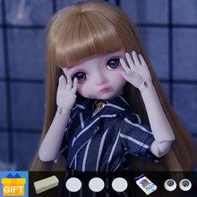 Shuga fada seno 1/6 boneca bjd cosméticos bonecas fullset completo profissional brinquedos de maquiagem presentes móveis conjunta boneca